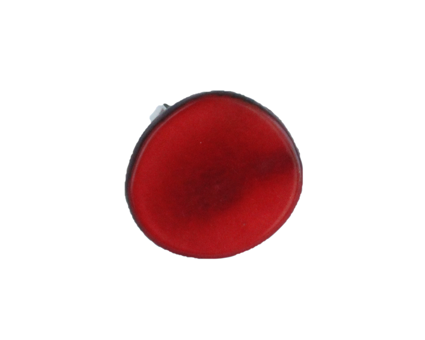 Handmade ring, tagua, red, adjustable ring size, sustainable, ethical, front