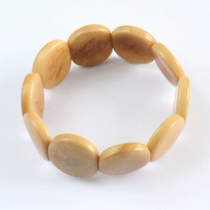 Handmade bracelet, tagua nut, sustainable,  colourful, beige