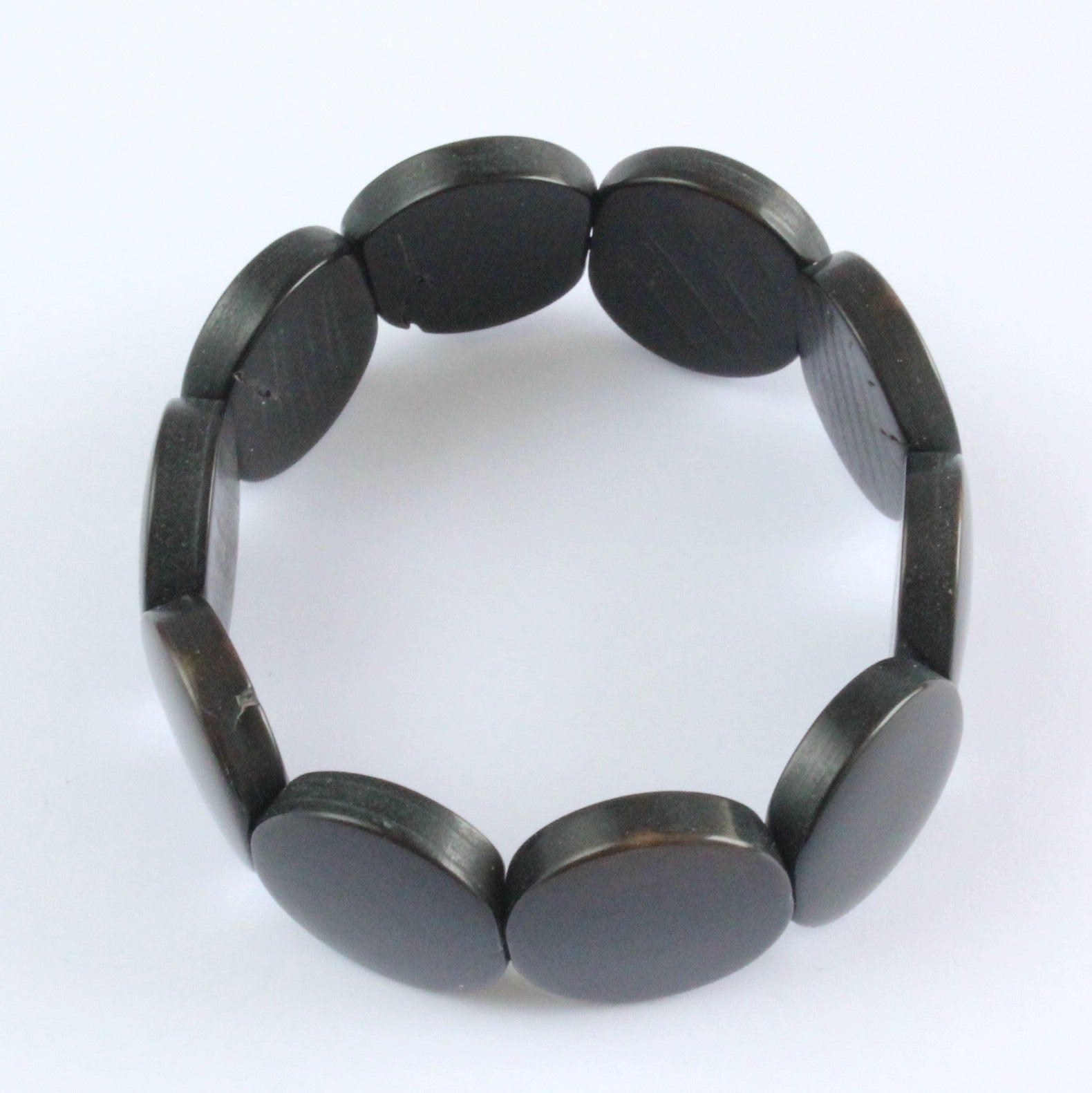 Handmade bracelet, tagua nut, sustainable,  colourful, black