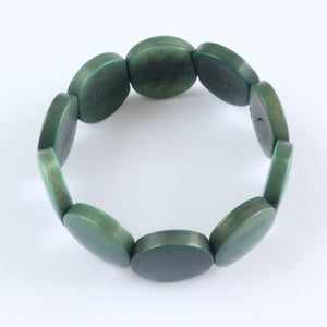 Handmade bracelet, tagua nut, sustainable,  colourful, dark green
