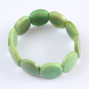 Handmade bracelet, tagua nut, sustainable,  colourful, mint green