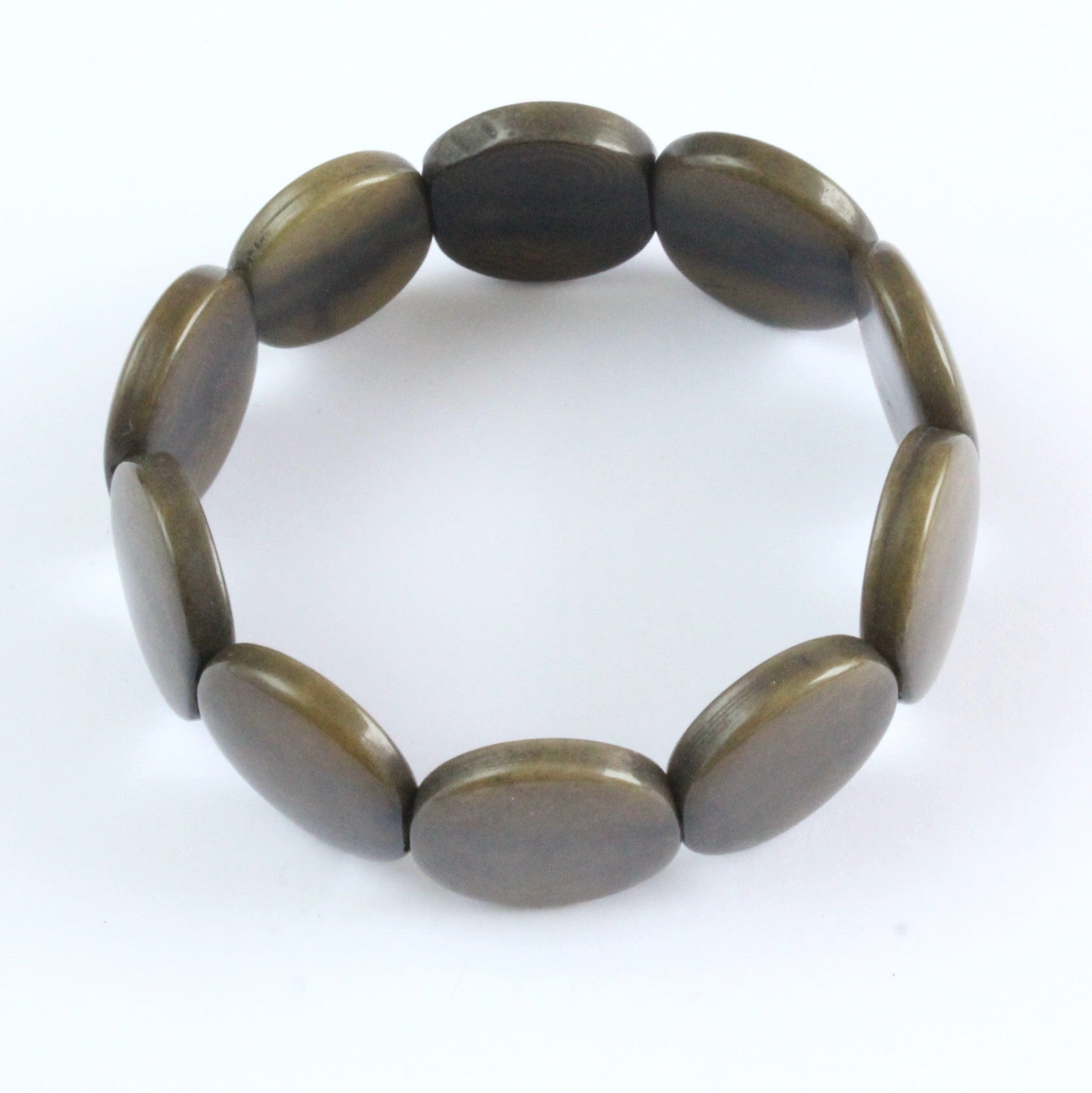 Handmade bracelet, tagua nut, sustainable,  colourful, olive