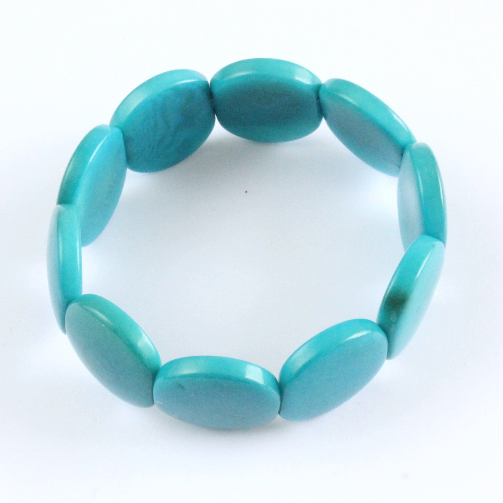 Handmade bracelet, tagua nut, sustainable,  colourful, turquoise