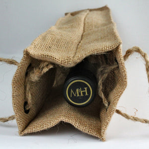 Wine bag, jute, handmade, gift, Swedish, wine bottle