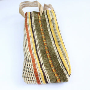 Wine bag, gift, upcycled, retro, wine carrier