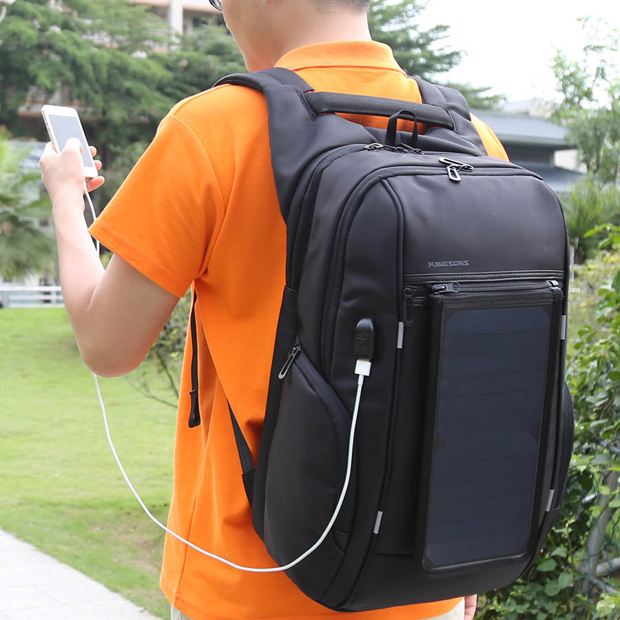 USB Solar Powered-Battery Anti-Theft Waterproof Backpack