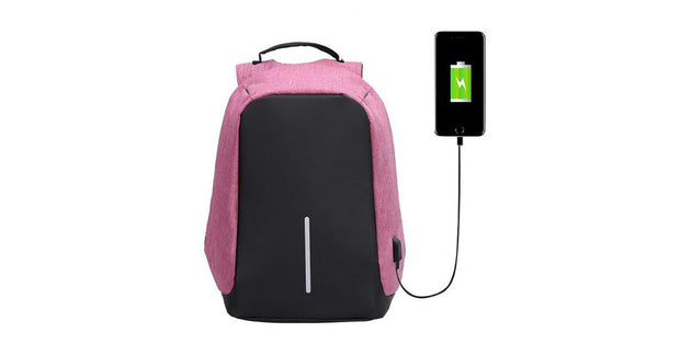Original USB Charging Anti-Theft Backpack Purple