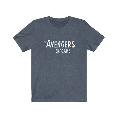 Avengers Endgame in Comics Font - Heather Blue