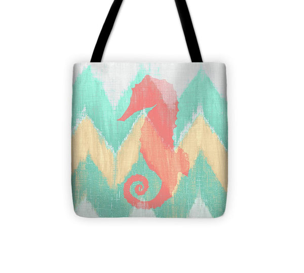 Sea Creature On Chevron II Tote Bag - 7Anthony