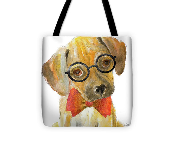 Nerd Pup Square Tote Bag - 7Anthony