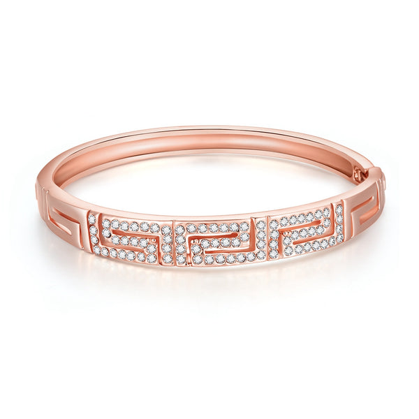 18K Rose Gold Maze Bracelet - 7Anthony