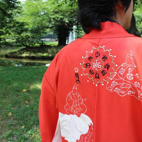 <TUTAE> Haori1007  vermilion with figures