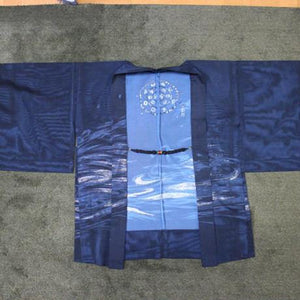 <TUTAE> Haori1010 (for summer) black with bluish silver patterns