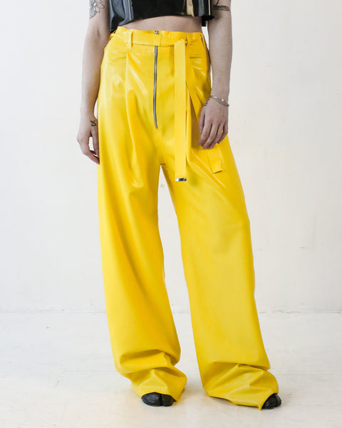DOUBLE PLEAT PANT IN YELLOW