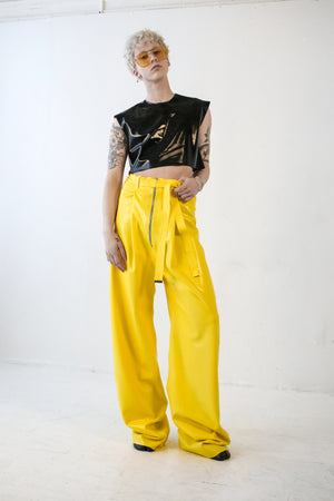DOUBLE PLEAT PANT IN YELLOW - SHOP NOT DEAD YET