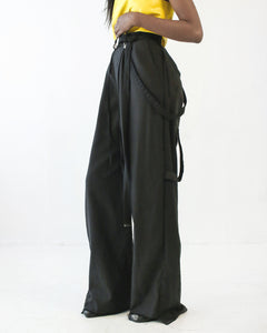 PAPER BAG PANT IN BLACK - SHOP NOT DEAD YET