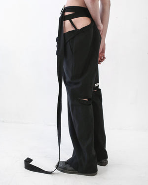 EXPOSED ASYMMETRICAL 'LOOKING' PANT - SHOP NOT DEAD YET