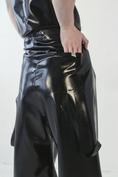 DOUBLE PLEAT PANT IN BLACK - SHOP NOT DEAD YET