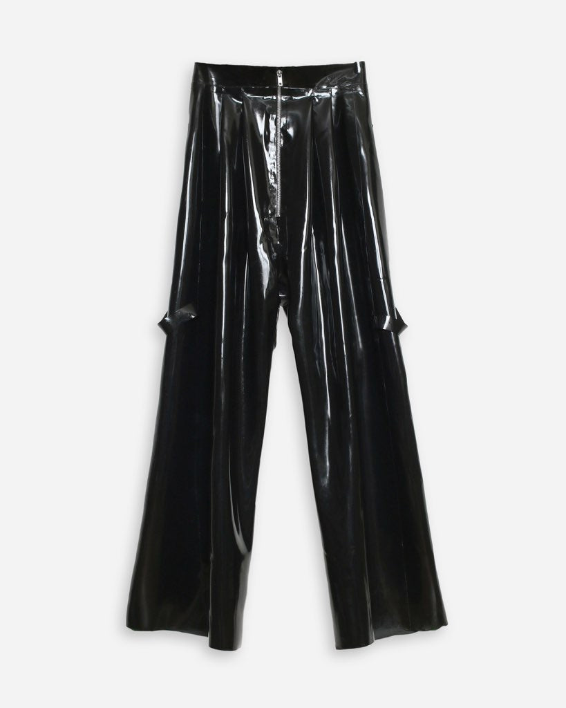 DOUBLE PLEAT PANT IN BLACK