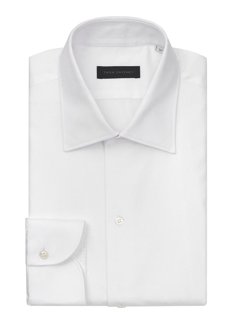 Marcella Cotton Dress Shirt - White