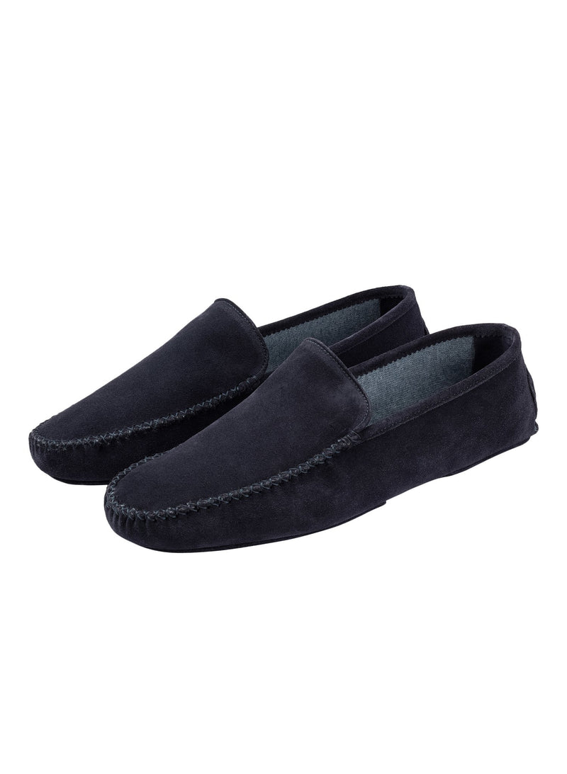 Cashmere Lined Slipper - Navy