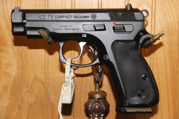 CZ 75 COMPACT 9MM BLK 3.9