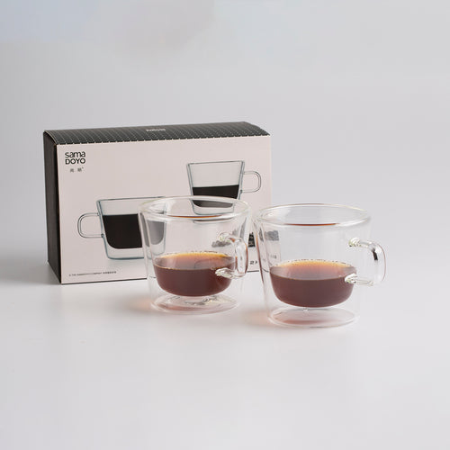 Samadoyo Double Wall Glass Cup Set