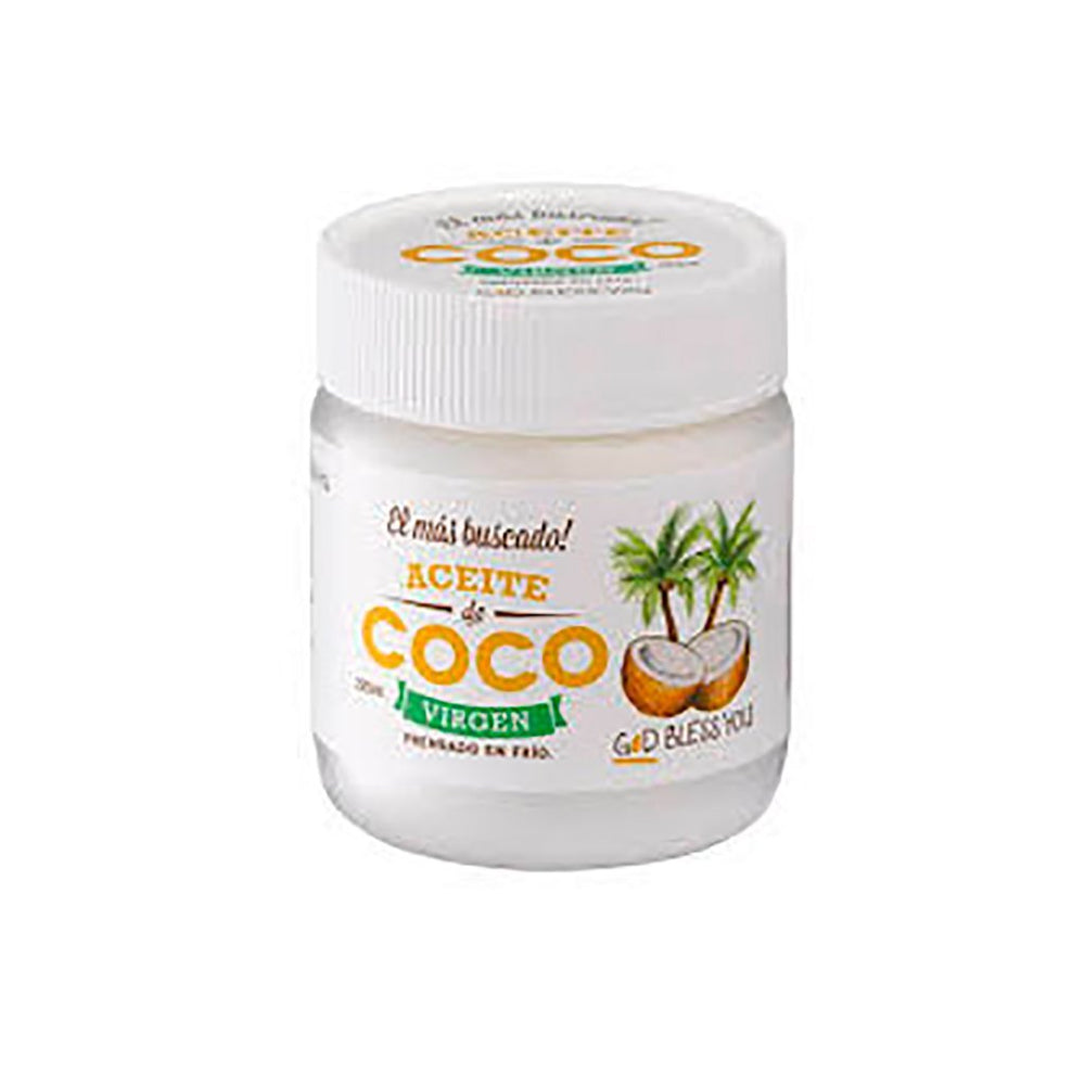 ACEITE DE COCO VIRGEN 500ml - GOD BLESS YOU
