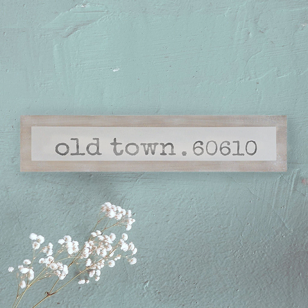 Old Town Chicago - Simple - Wall Décor - Wood Sign