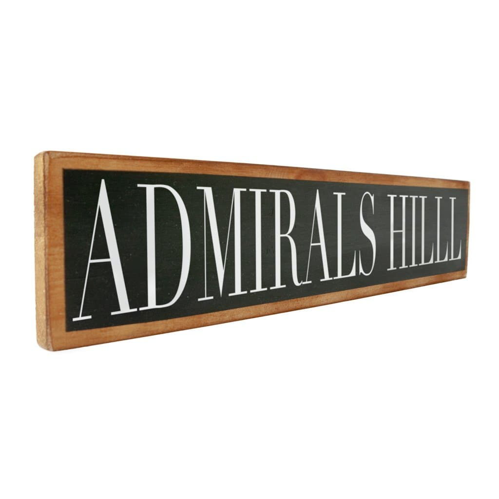 Admirals Hill - Black & White - Wall Décor - Wood Sign