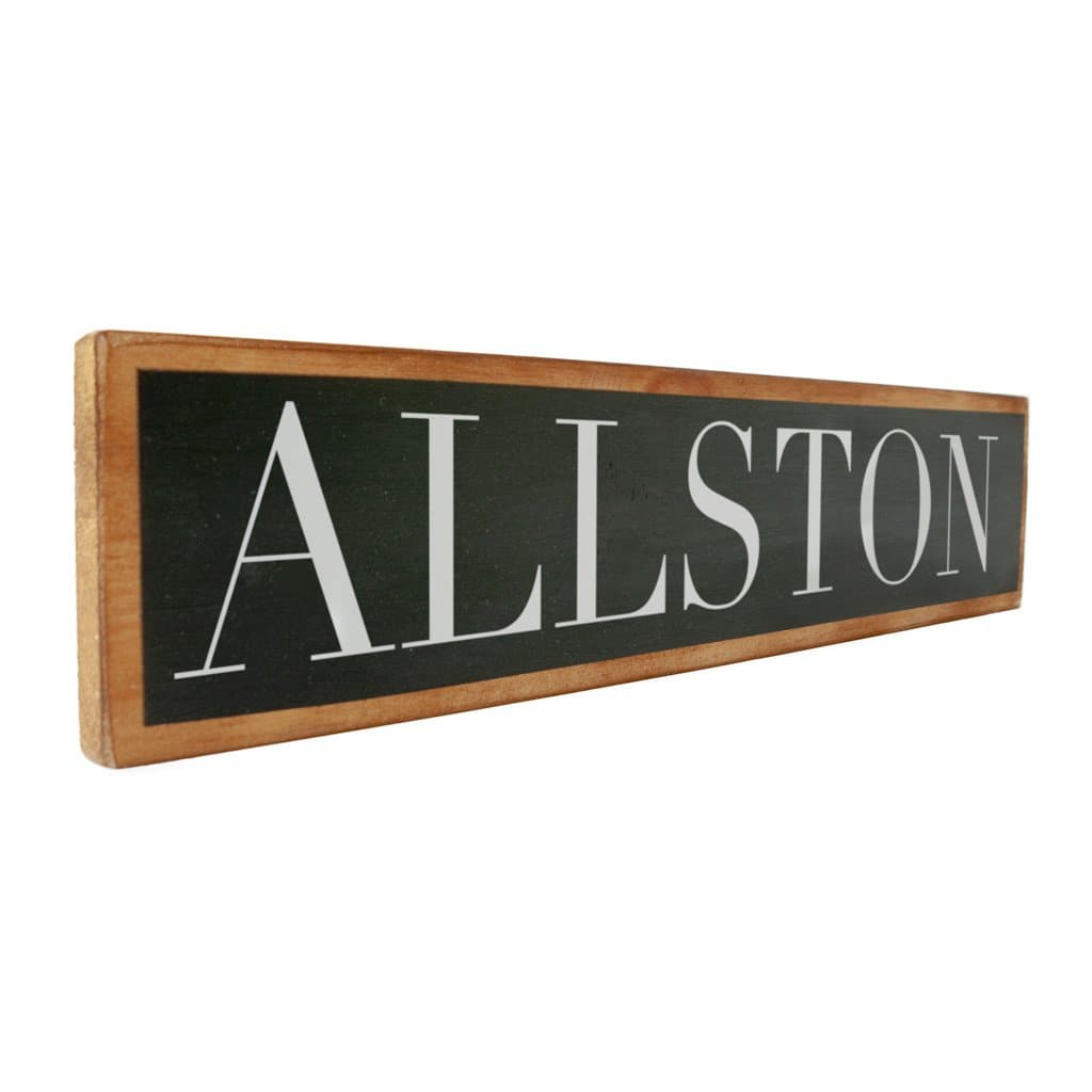 Allston - Black & White - Wall Décor - Wood Sign