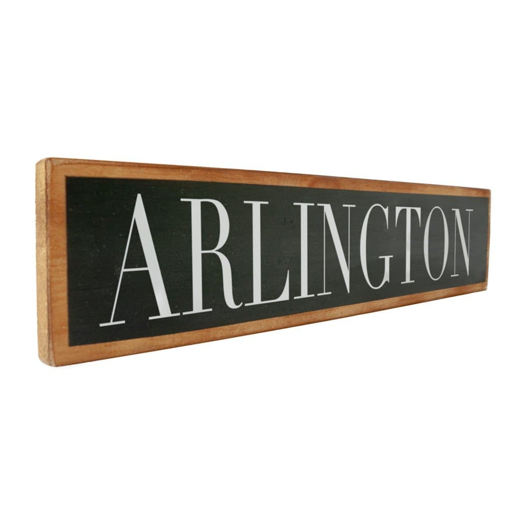 Arlington - Black & White - Wall Décor - Wood Sign