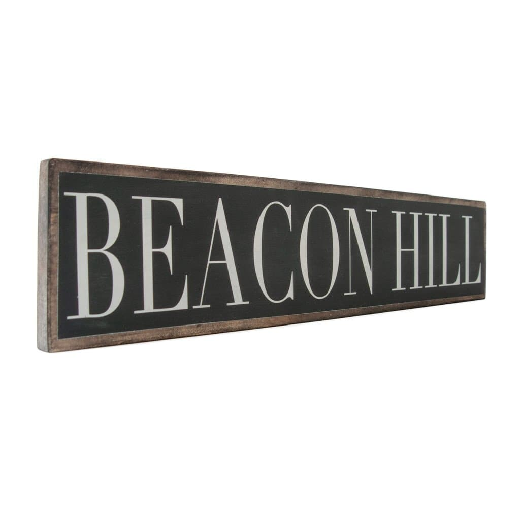 Beacon Hill - Black & White - Wall Décor - Wood Sign
