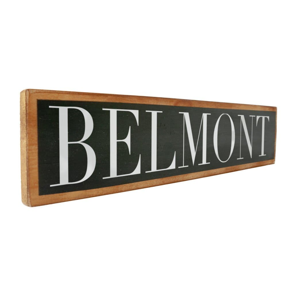 Belmont - Black & White - Wall Décor - Wood Sign