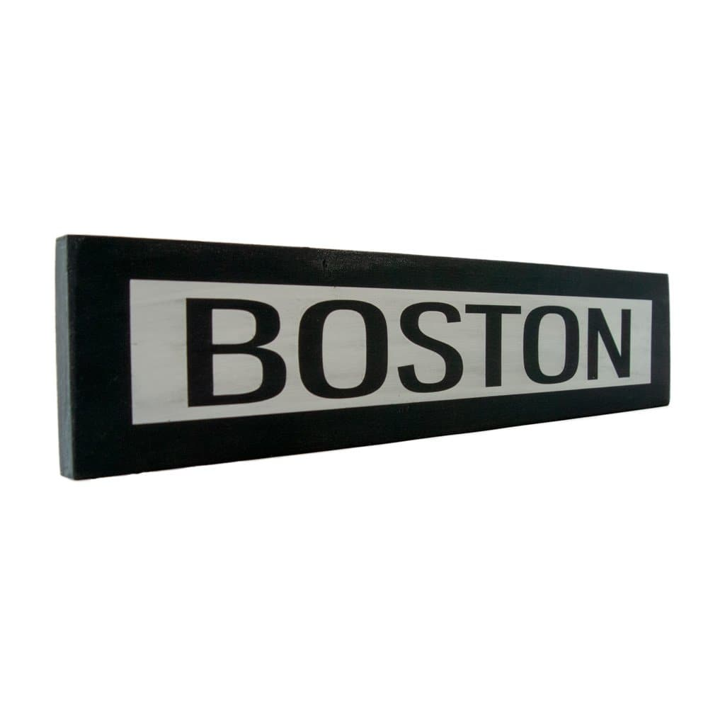 Boston - One Way - Wall Décor - Wood Sign