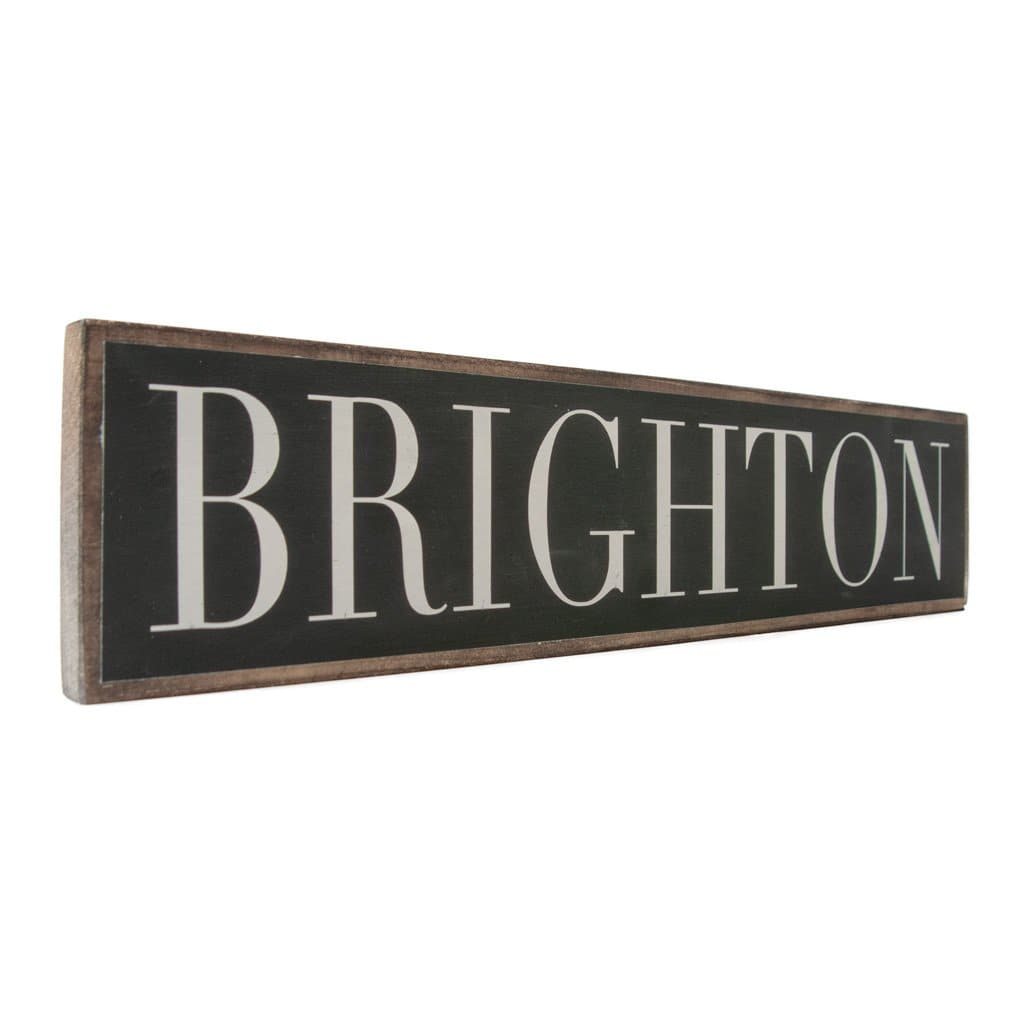 Brighton - Black & White - Wall Décor - Wood Sign
