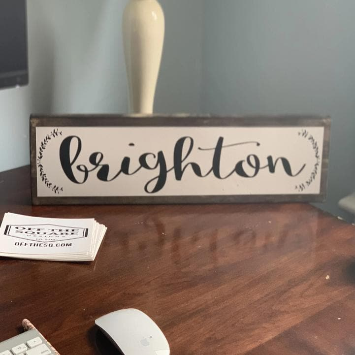 Brighton - Farmhouse - Wall Décor - Wood Sign