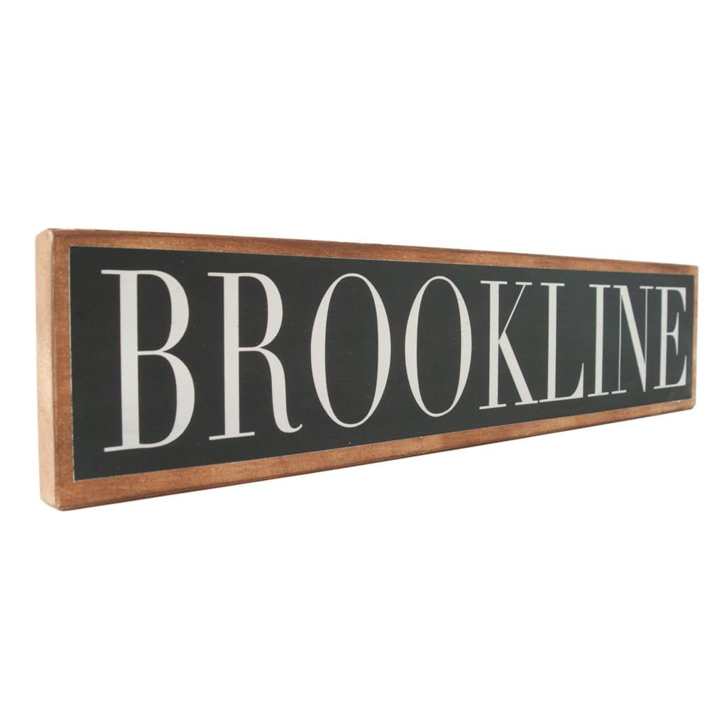 Brookline - Black & White - Wall Décor - Wood Sign