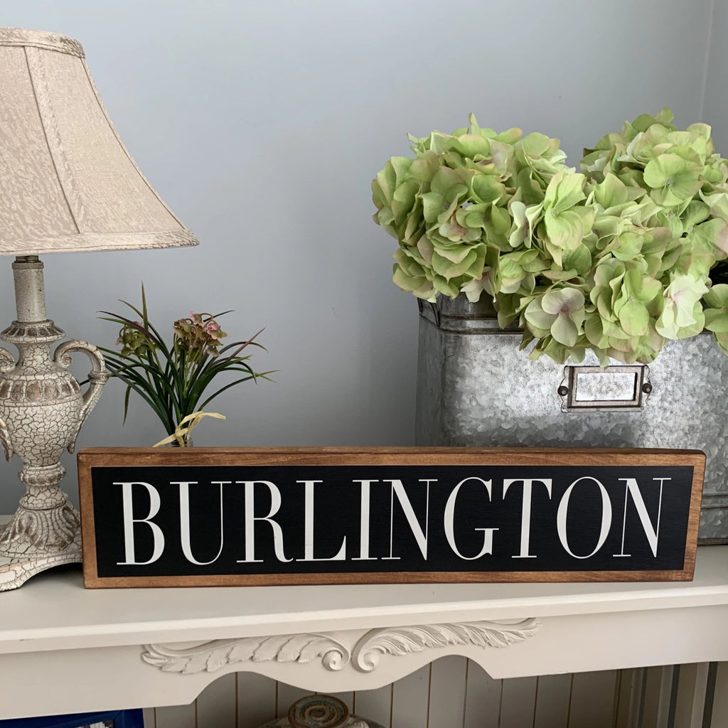 Burlington - Black & White - Wall Décor - Wood Sign
