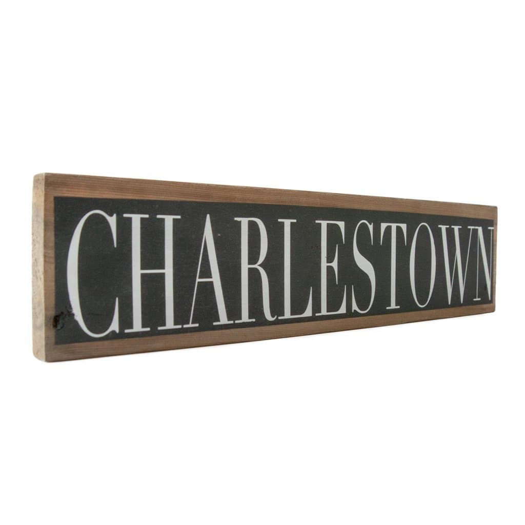 Charlestown - Black & White - Wall Décor - Wood Sign