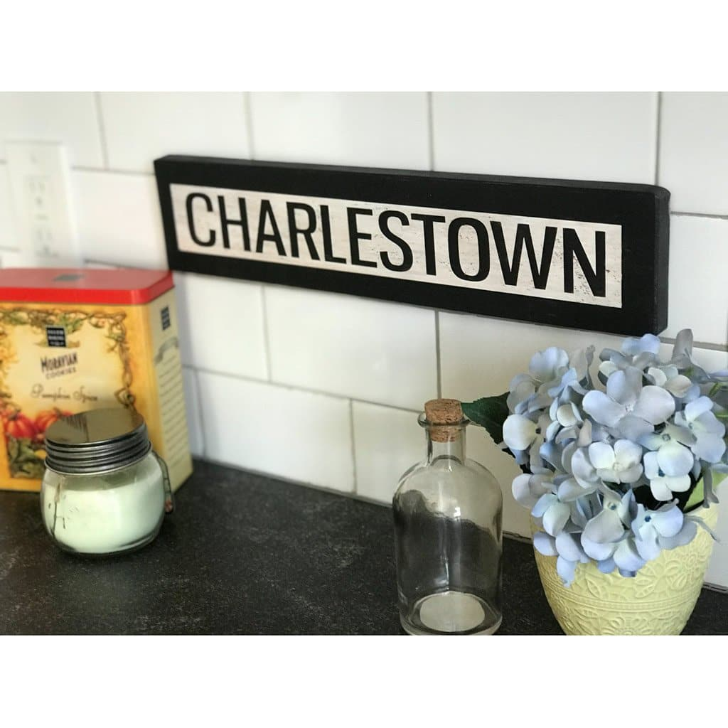 Charlestown - One Way - Wall Décor - Wood Sign