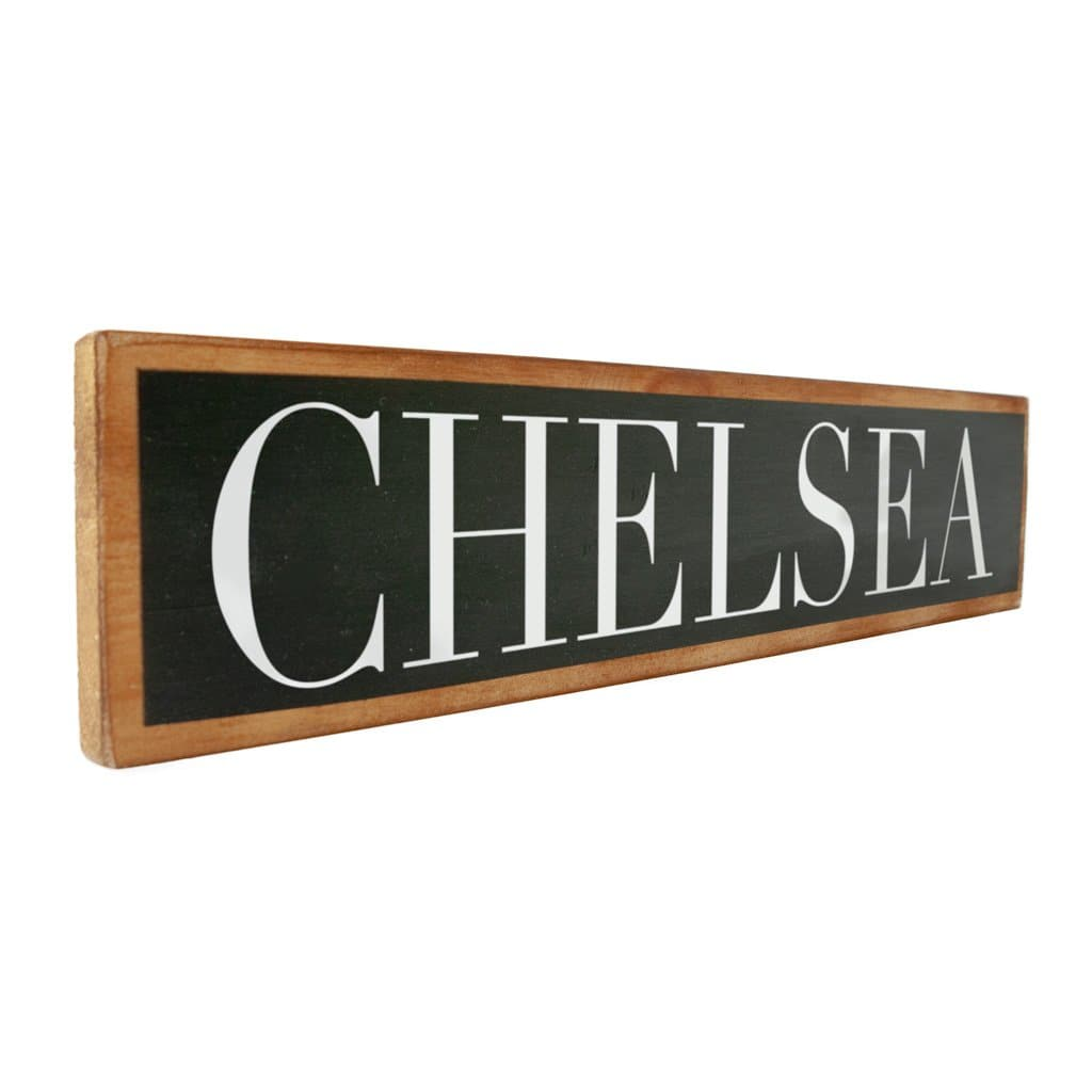 Chelsea - Black & White - Wall Décor - Wood Sign