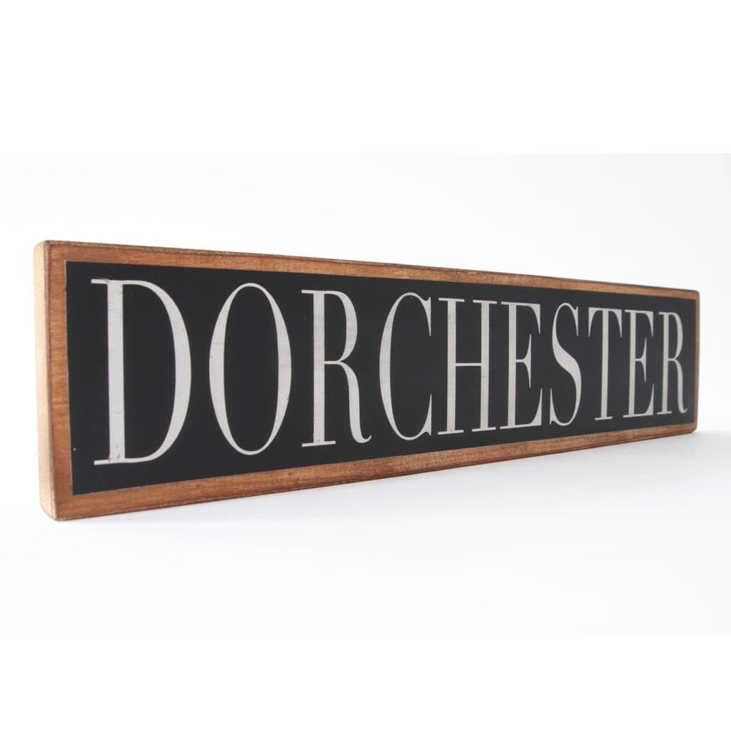 Dorchester - Black & White - Wall Décor - Wood Sign