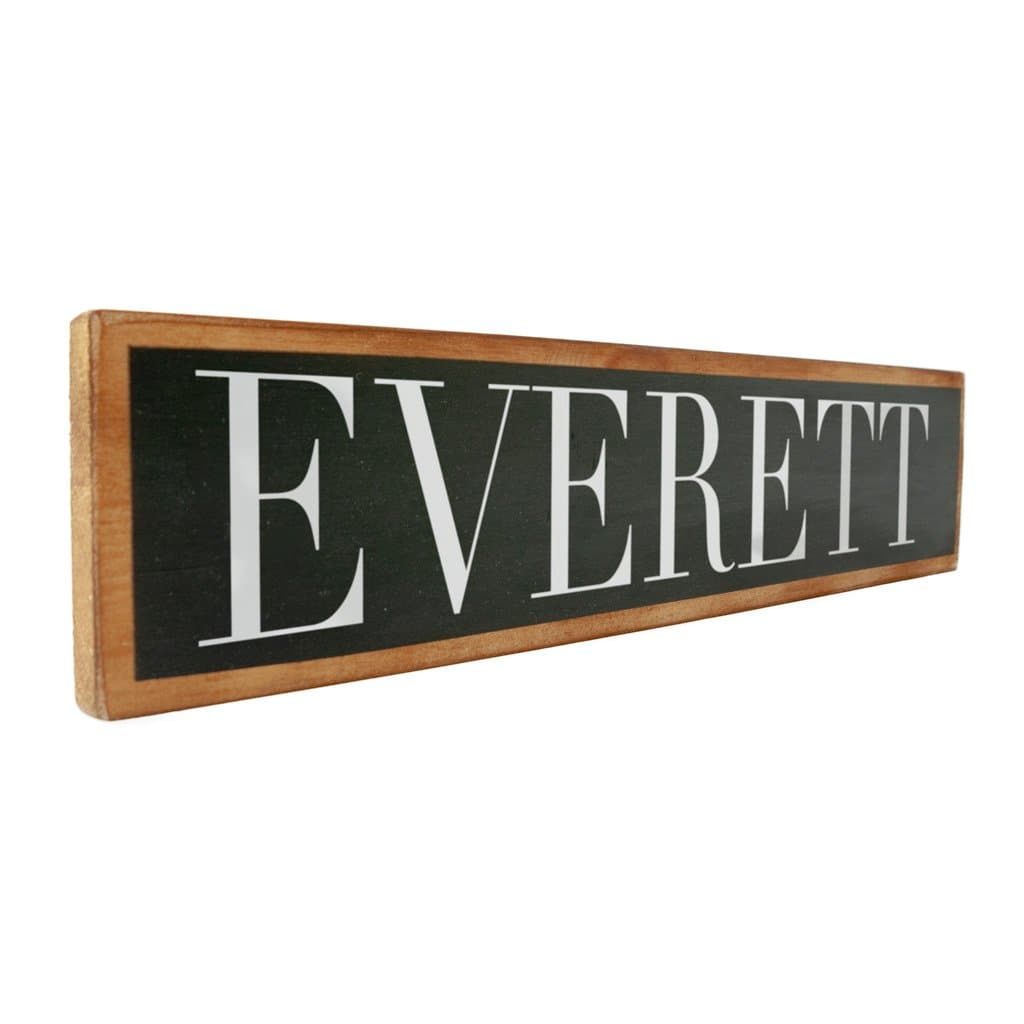 Everett - Black & White - Wall Décor - Wood Sign