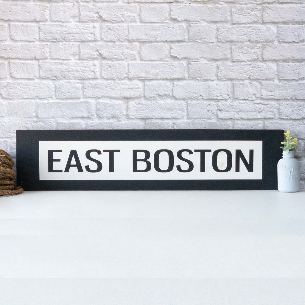 East Boston -One Way Sign - Over Stock