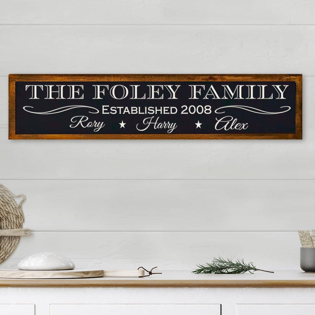 Customizable Family Name With Kids Names Sign