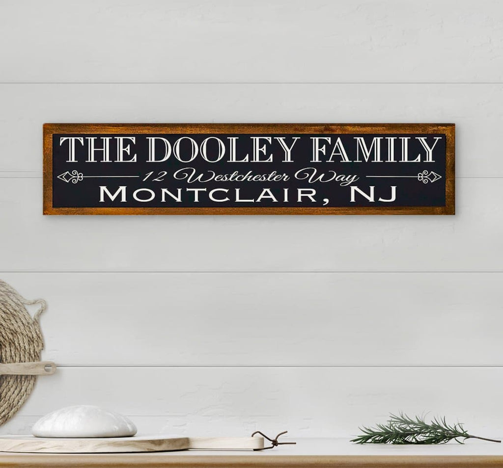 Customizable Family Name & Address Sign