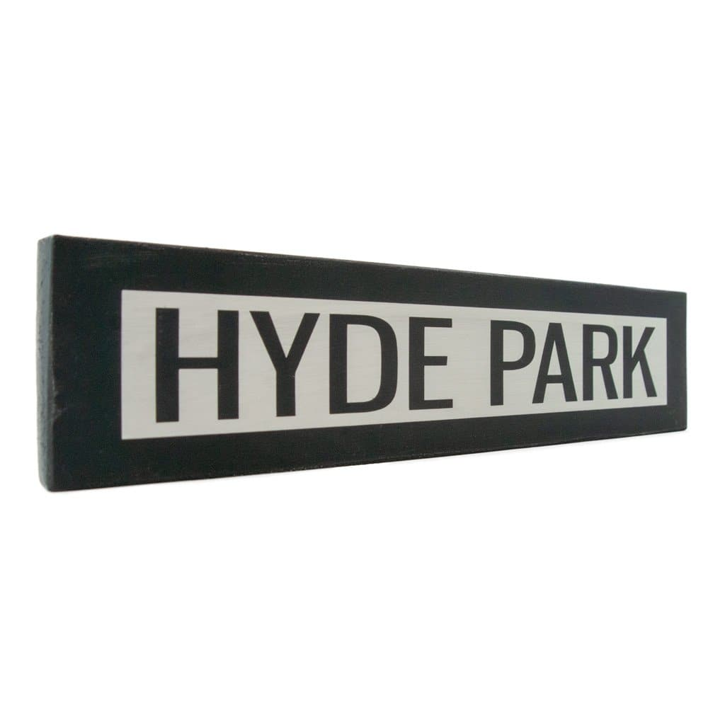 Hyde Park - One Way - Wall Décor - Wood Sign