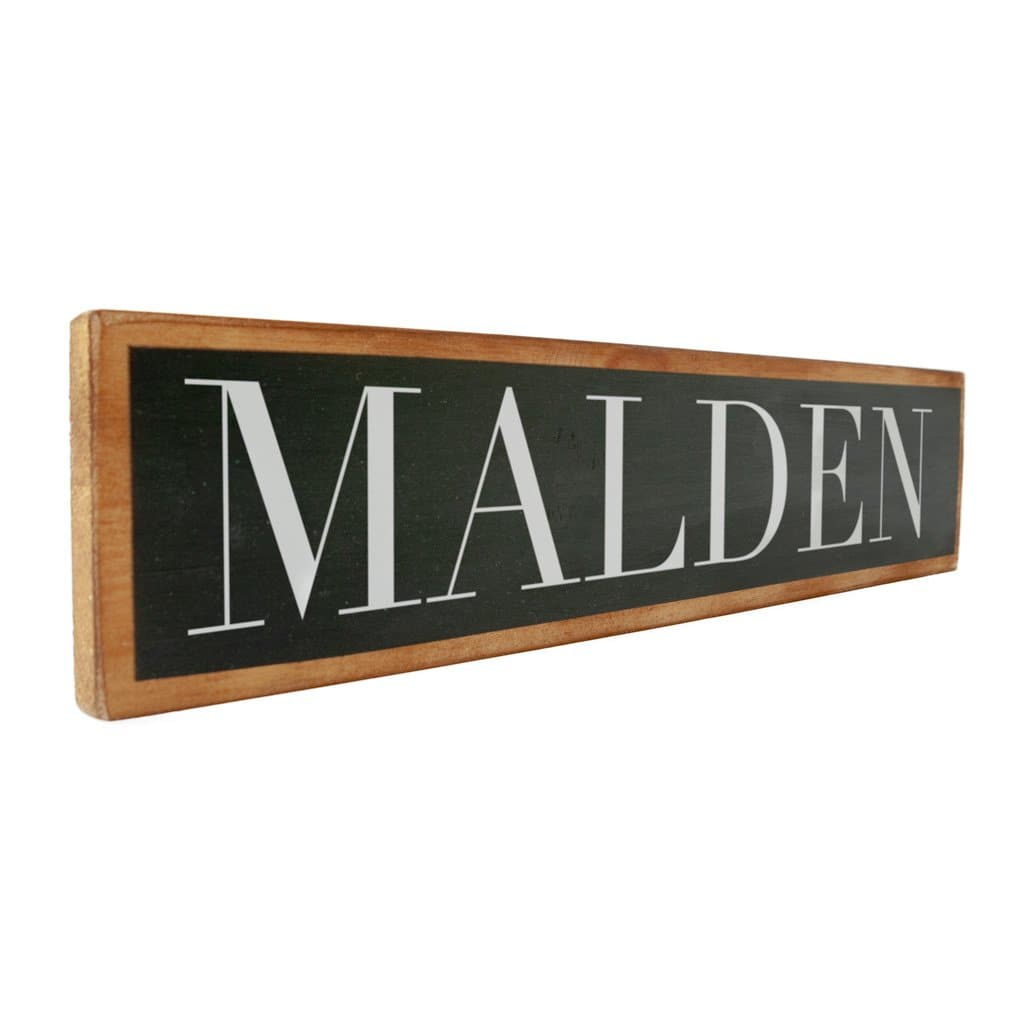 Malden - Black & White - Wall Décor - Wood Sign