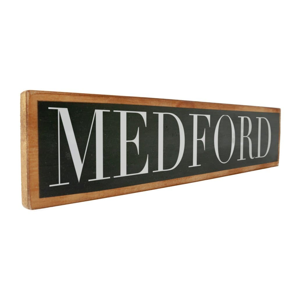 Medford - Black & White - Wall Décor - Wood Sign